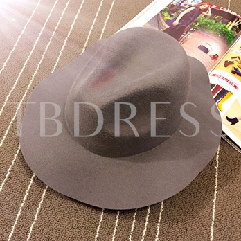 Wavy Brim Pure Color Trilby