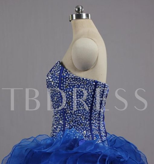 Sweetheart Beaded Long Ball Gown Quinceanera Dress