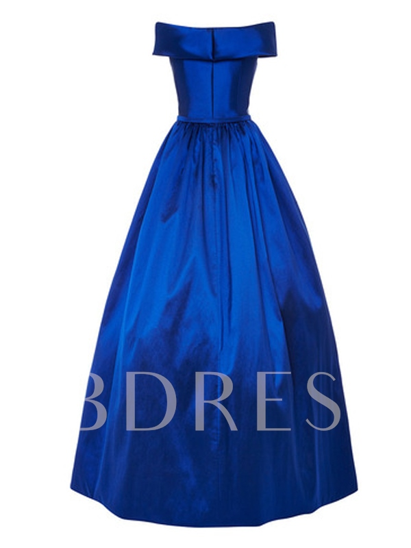 A-Line Sashes Off-The-Shoulder Long Evening Dress