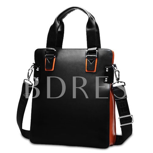 Quality Glossy PU Zipper Men's Tote Bag