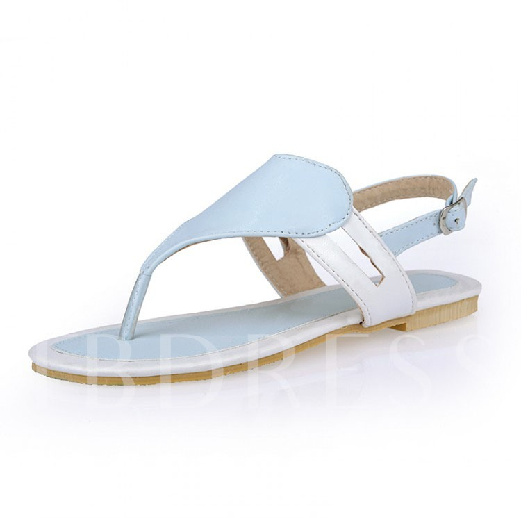 Flat Heel Buckle Thong Women's Flat Sandals