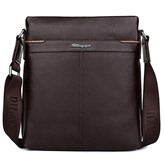 Vertical Litchi Grain Zipper Men's High Quality Messenger Bag