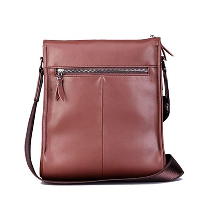 Vertical Zipper Men's Messenger Bag