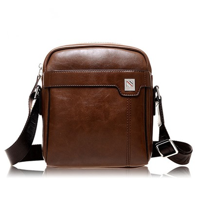 Convenient Cube Pure Color Men's Messenger Bag