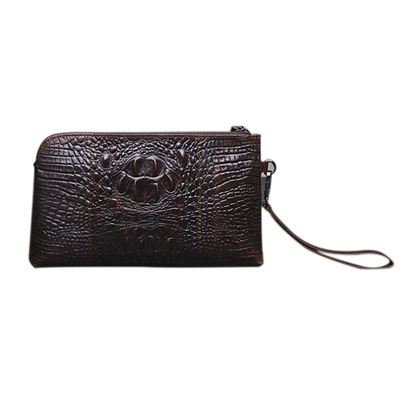 Croco Embossing Zipper Men's Clutch Bag