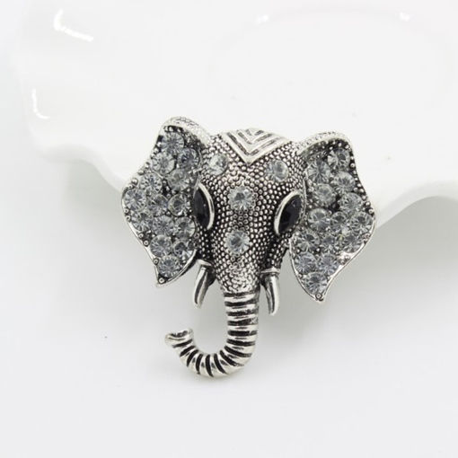 Retro Elephant Brooch