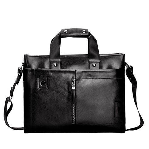 New Double Out Zipper Pocket Men's Tote Bag