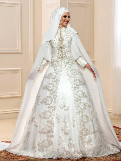 Elegant Islamic Muslim Wedding Dresses - Tbdress.com