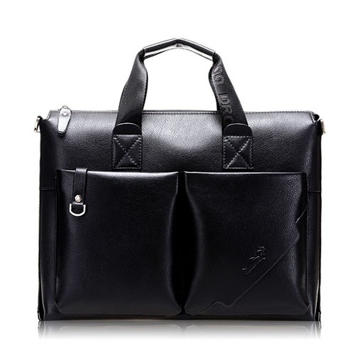 Double Out Pocket Business Men's Tote Bag