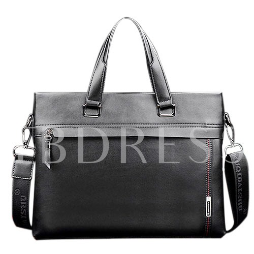 Briefcase Zipper Real Artifical Leather Men's Tote Bag