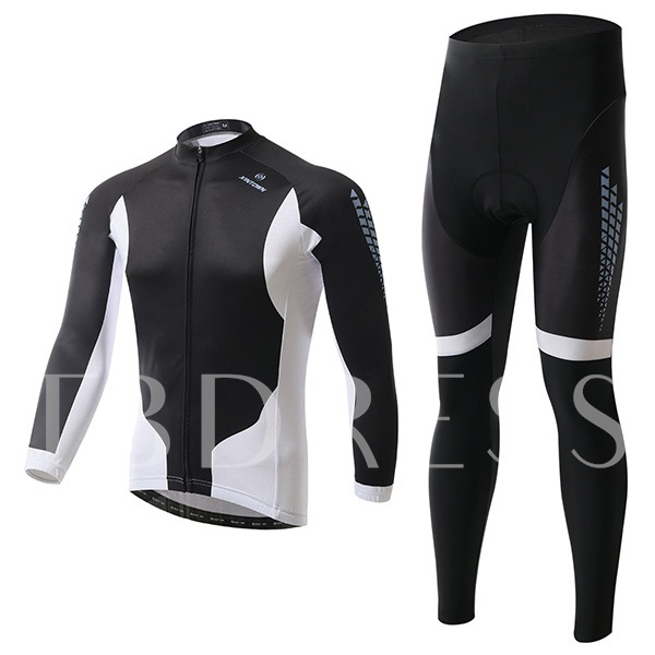 Polyester Quick Drying Black Cycling Suit (Plus Size Available)