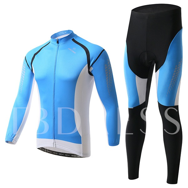 Sweat-Absorption Quick Drying Blue Cycling Suit (Plus Size Available)
