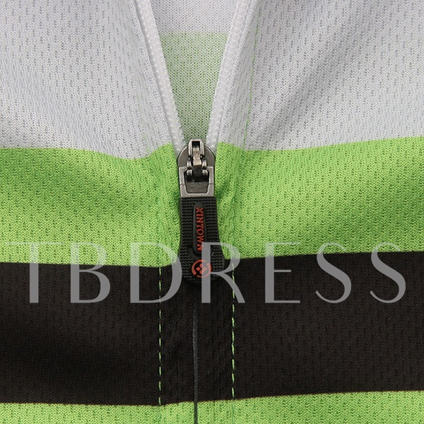 Sweat-Absorption Quick Drying Green Biking Suit (Plus Size Available)