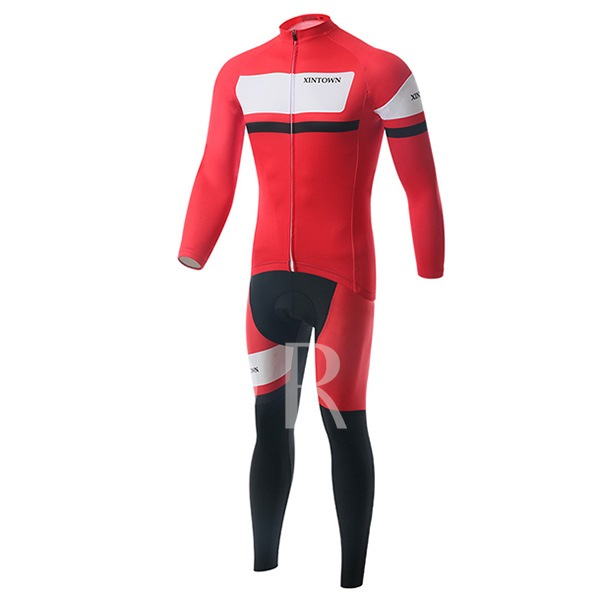 Fashion Sweat-Absorption Elastic Materials Men's Cycling Suit (Plus Size Available)