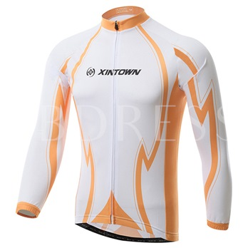 Polyester Moisture-Wicking Orange Cycling Outfit