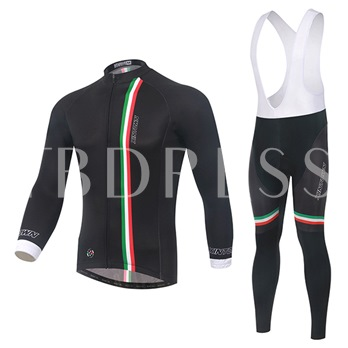 Soft Wind Breaker Thick Long Sleeve Stretchable Men's Cycling Suit (Plus Size Available)