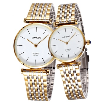 Full Alloy Quality Waterproof Couples Watch
