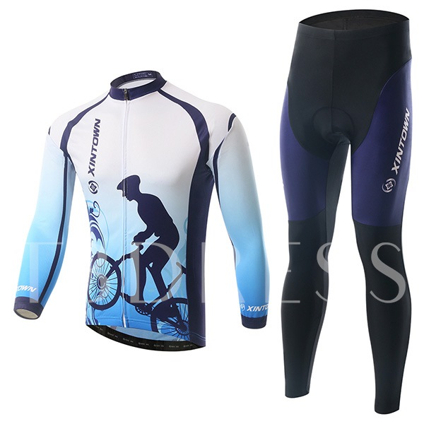 Wind Breaker Innovative Design Long Sleeve Men's Biking Suit (Plus Size Available)