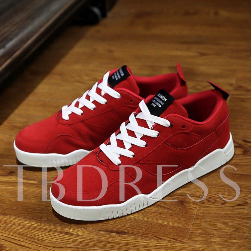 Round Toe Plain Flat Heel Cross Strap Men's Sneakers