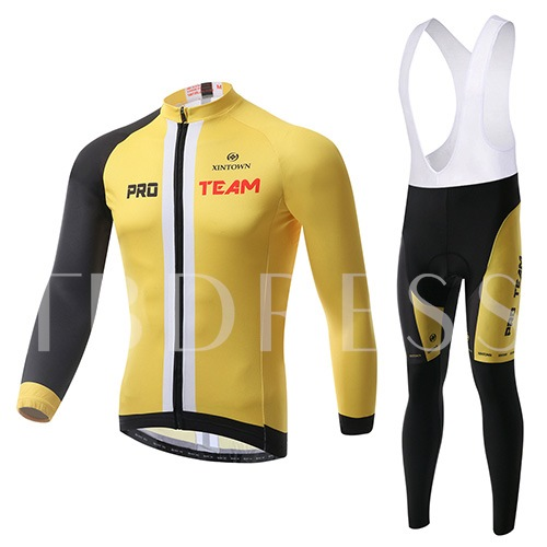 Long Sleeve Stretchable Wind Cheater Thick Men's Cycling Suit (Plus Size Available)
