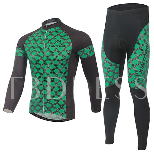 Fast Drying Geometric Spot Breathable Men's Cycling Suit