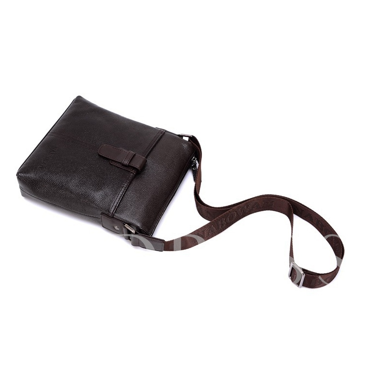 Salable Cowhide Litchi Grain Men's Messenger Bag