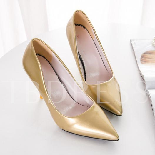 Pointed Toe Slip-On Stiletto Heel Plain Casual Women's Pumps