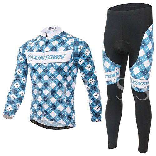 Quick-Dry Springy Geometry Painted Men's Biking Suit (Plus Size Available)