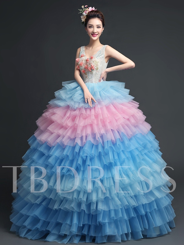 0b03918601f V-Neck Ball Gown Appliques Lace Sashes Sequins Quinceanera Dress. Sold Out