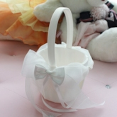 Silk Yarn Bowknot Ribbon Flower Basket