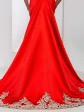 Square Neck Appliques Long Mermaid Evening Dress