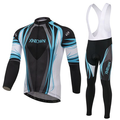 Keep Warm Long Sleeve Quick-Dry Springy Men's Biking Suit