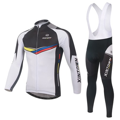 Long Sleeve Quick-Dry Springy Men's Cycling Suit (Plus Size Available)