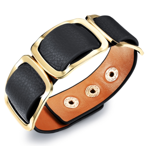 Horsehair Wide Artificial Leather Bracelet