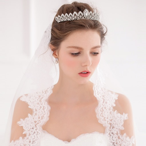 Rhinestone Crown Wedding Tiara