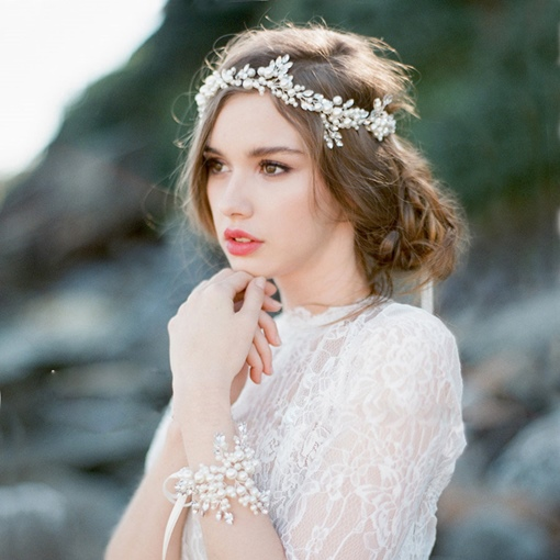 Elegant Pearl Beach Wedding Bridal Headband