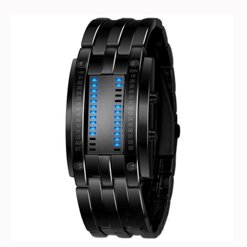 Cool LED Lamp Binary System Men's Digital Watch