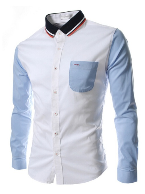 Men's Shirt with Contrast Pocket