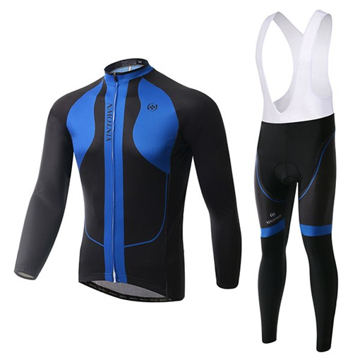 Quick-Dry Long Sleeve Stretchable Men's Biking Suit (Plus Size Available)