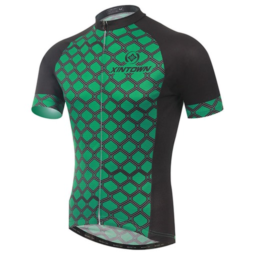 Green Web Body Short Sleeve Cycling Jersey