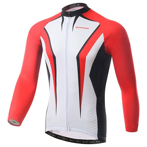 Wind Breaker Fleece Lining Warm Geometric Men's Cycling Top (Plus Size Available)