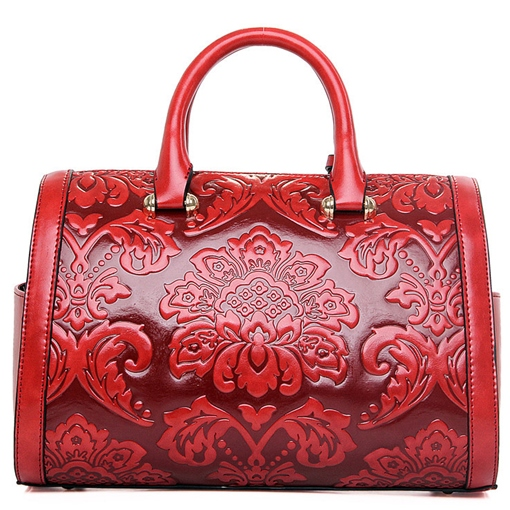 Pillow Shape Embossing Women's Handbag
