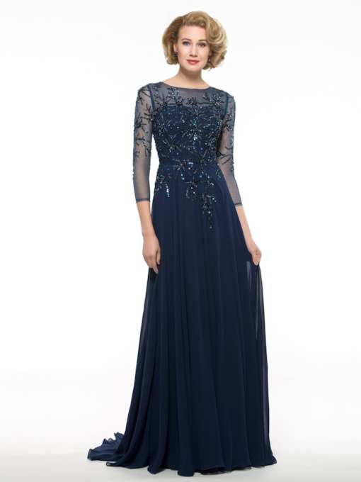Sequins Beading Mother of the Bride Dress with Sleeve