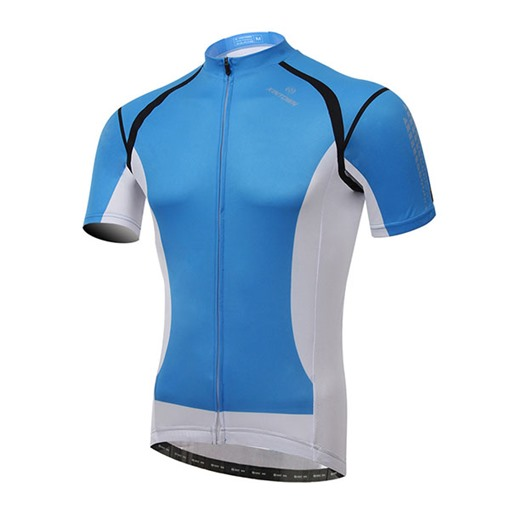 Light Blue Body White Back Short Sleeve Cycling Jersey