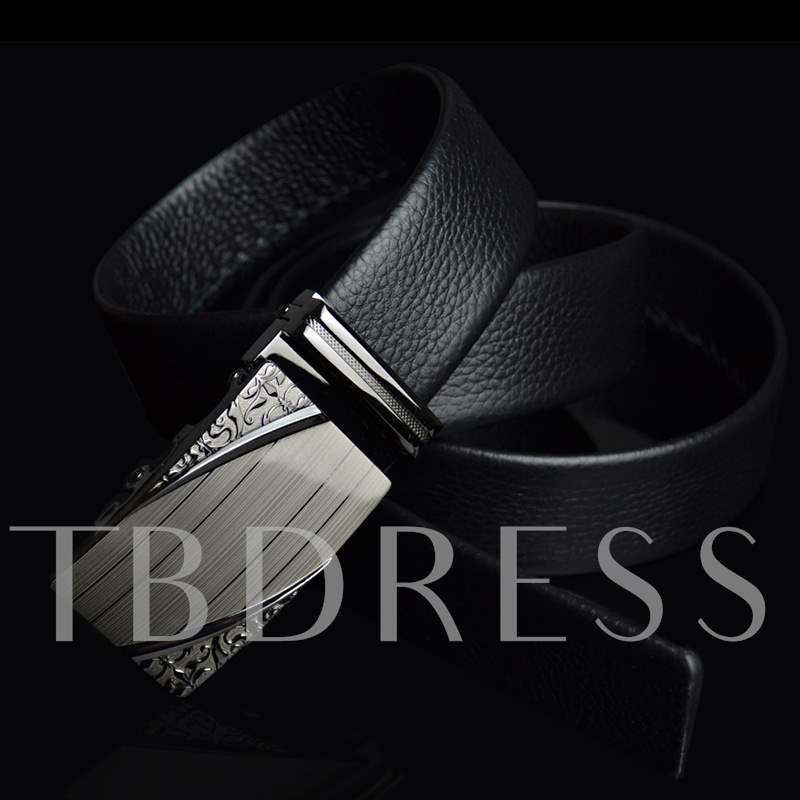 Luxurious Grain Buckle Men's Embossing Belt