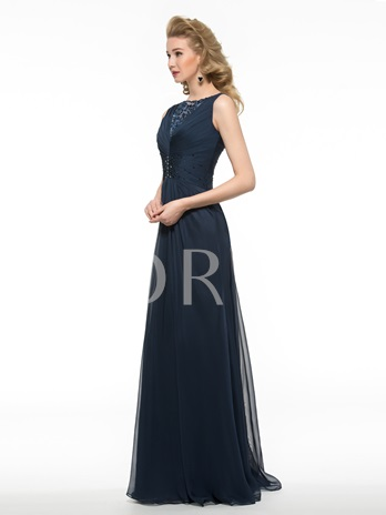 Embroidery Lace Sequins Mother of the Bride Dress