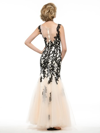 Tulle Appliques Lace Trumpet/Mermaid Mother of the Bride / Groom Dress