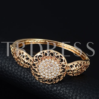 Gold-Plated Hollow Out 4 Piece Jewelry Set