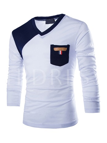 Men's Long Sleeve Tee with Two-Tone