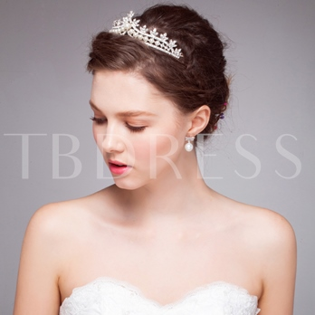Alloy Rhinestone Wedding Tiara